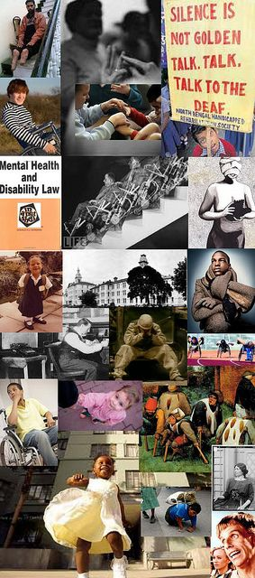 Be Informed_Sustainable Change_photo montage of disability community portraits, books, and artwork_Part 2 of 4