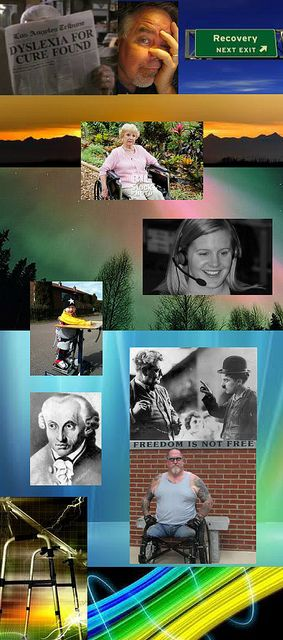Be Informed_Sustainable Change_photo montage of disability community portraits, books, and artwork_Part 4 of 4