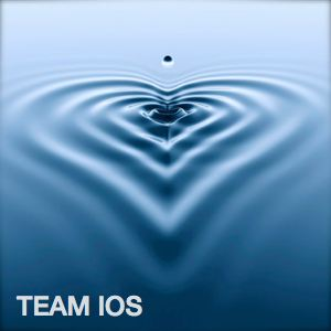 Be Involved_Team IOS_Multiple blue ripples of water in the shape of a heart