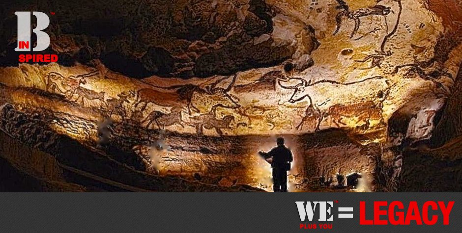Be Informed_Becoming Understood_We Plus You Equals Legacy_photo man in the Lascaux cave of the oldest known cave drawings and story
