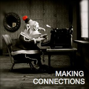 Be Informed_Building Social Capital_Making Connections_Animated man at typewriter at table facing window