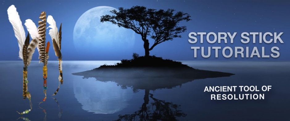 Be Informed_Story Stick Tutorials _Ancient Tool of Resolution_ photo of small island with silhouette of tree during moonrise with suspended story sticks