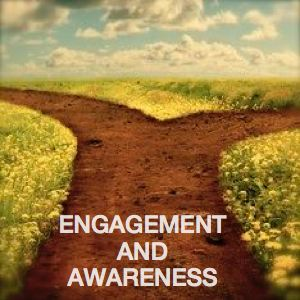 Be Informed_Sustainable_Emgagement and Awareness_Dirt road that splits into two amidst field of daisy's