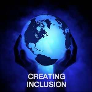 Becoming Understood_Creating Inclusion_Blue globe being held up by two hands