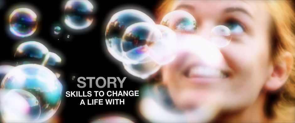Be Involved_Video History Trainings_Story Skills to Change a Life With_photo of young woman gazing skyward through a sea of bubbles