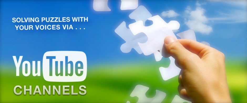 Be Involved_You Tube and Beyond_Solving Puzz;es withYour Voices Via_YouTube Channels_photo of a woman's hand catching paper puzzle pieces against a blue sky and green field