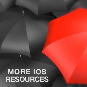 Links_More I.O.S. Web Resources_photo of red umbrella surrounded by black umbrella's