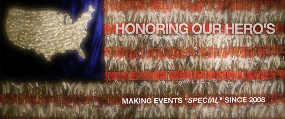 "Story Flag Exhibit_Honoring Our Hero's_Making Events ""Special"" since 2008_photo of story flag"