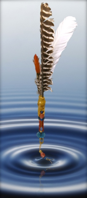 Be Informed_Story Stick Tutorial_photo of story stick hovering over a water ripple
