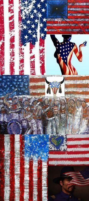 Be Inspired_Story Flag Origins_A_MD_photo montage of 25 famous artist renditons of the American Flag_Part 1 of 3