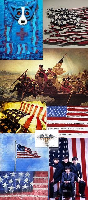 Be Inspired_Story Flag Origins_A_MD_photo montage of 25 famous artist renditons of the American Flag_Part 2 of 3