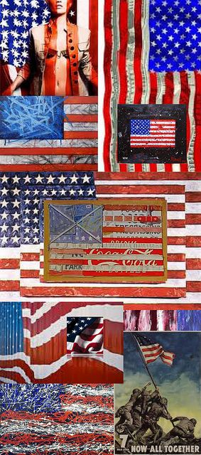 Be Inspired_Story Flag Origins_A_MD_photo montage of 25 famous artist renditons of the American Flag_Part 3 of 3