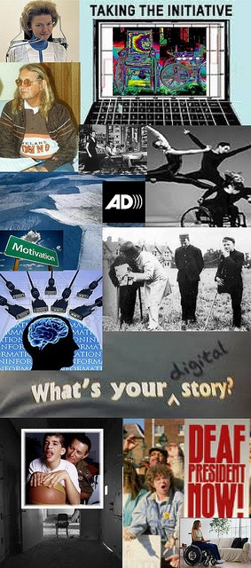 Be Involved_Video History Trainings_photo montage of people with disabilities participating in media activities. Part 2 of 2