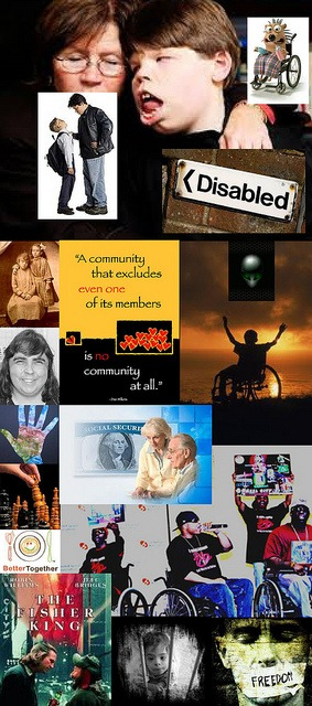 Be Involved_Volunteer_photo montage of disability community posters and photos